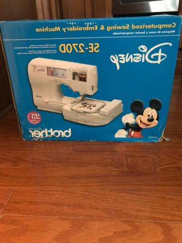 New Disney Computerized Embroidery Sewing Machine SE-270D
