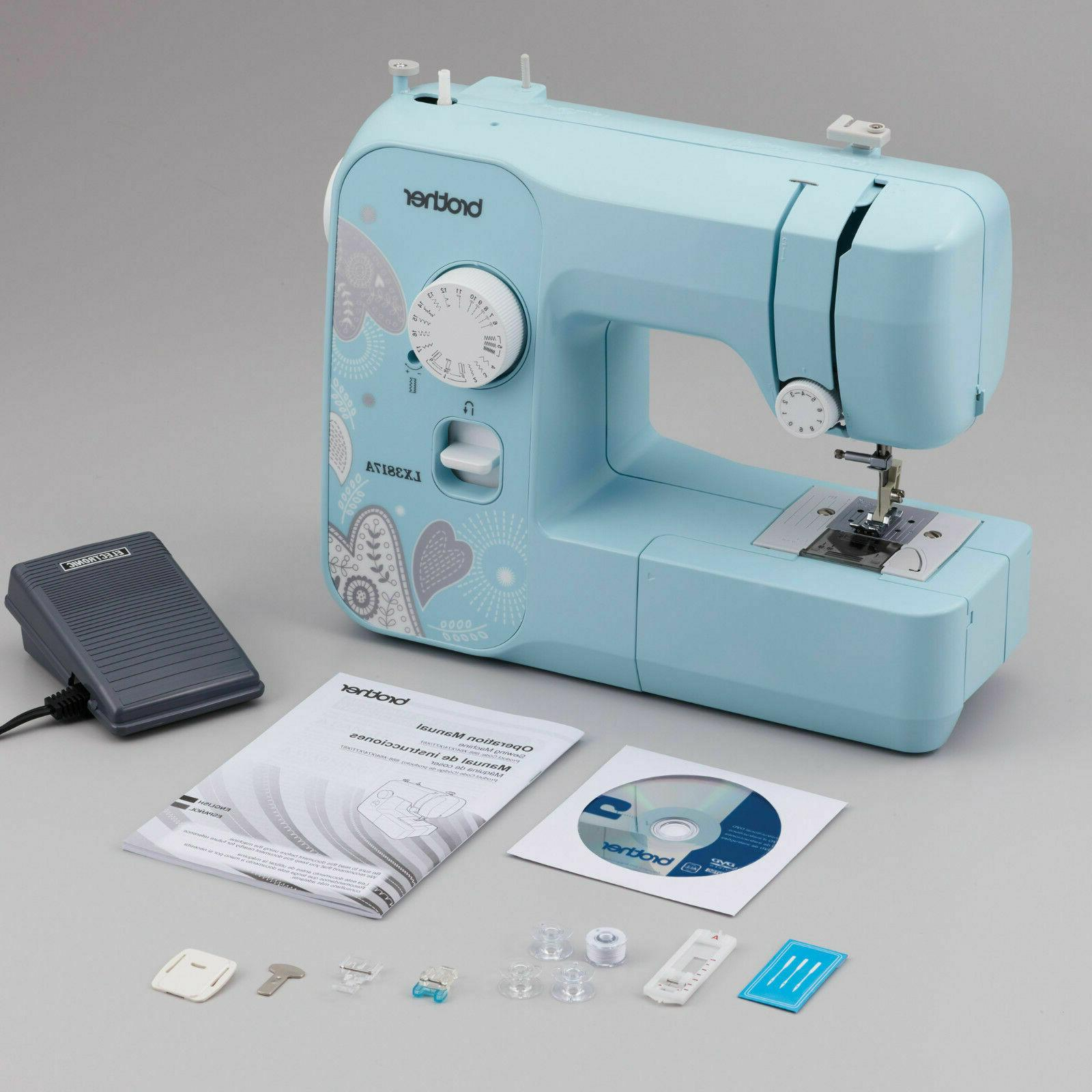 NEW Brother Full-size Machine Aqua Free arm buttonhole