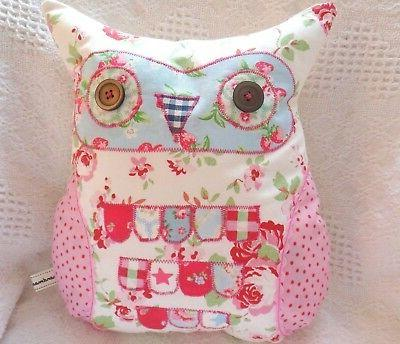 Owl Cushion Kit Patchwork Sewing Craft Kit Easy Hand or Sewi