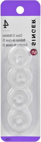 Plastic Class 15 Bobbins-4/Pkg