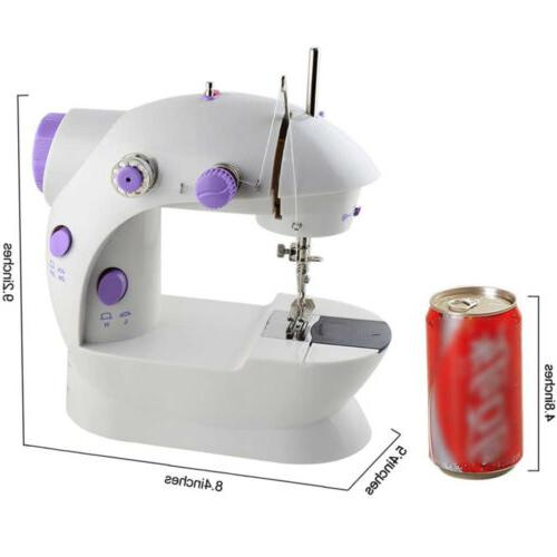 Portable Electric Sewing Machine Double Speed Stitches Household