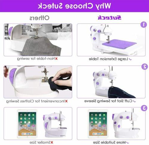 Speeds Sewing Machine with Foot PedalDual Power Travel Use