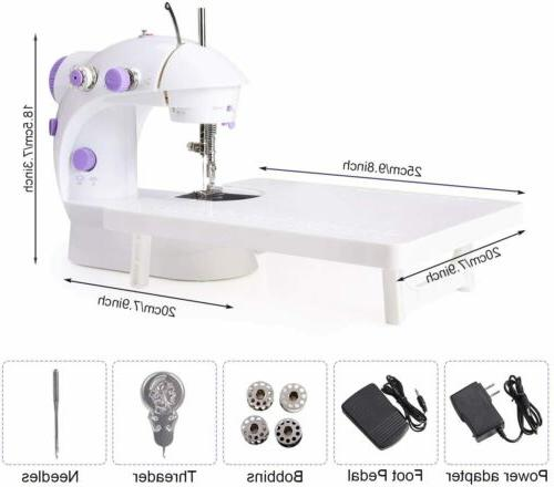 Mini Sewing Machine 2 Speeds Sewing Machine with Foot PedalD