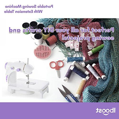Iboost Machine with Extension Bobbins, Needles, Foot