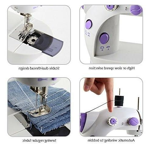 HAITRAL Portable Sewing Adjustable 2-Speed Double Thread Electric Crafti