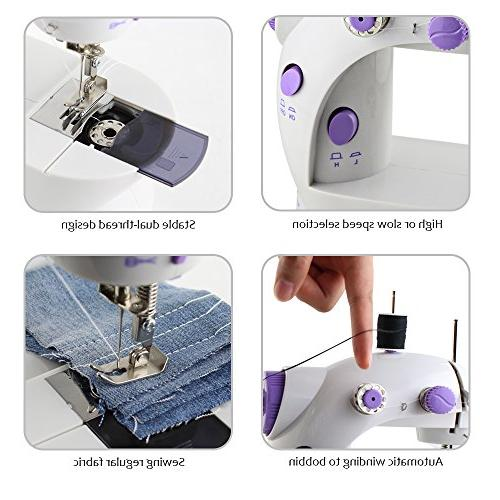 HAITRAL Adjustable Double Electric Crafting Mending with Foot Pedal