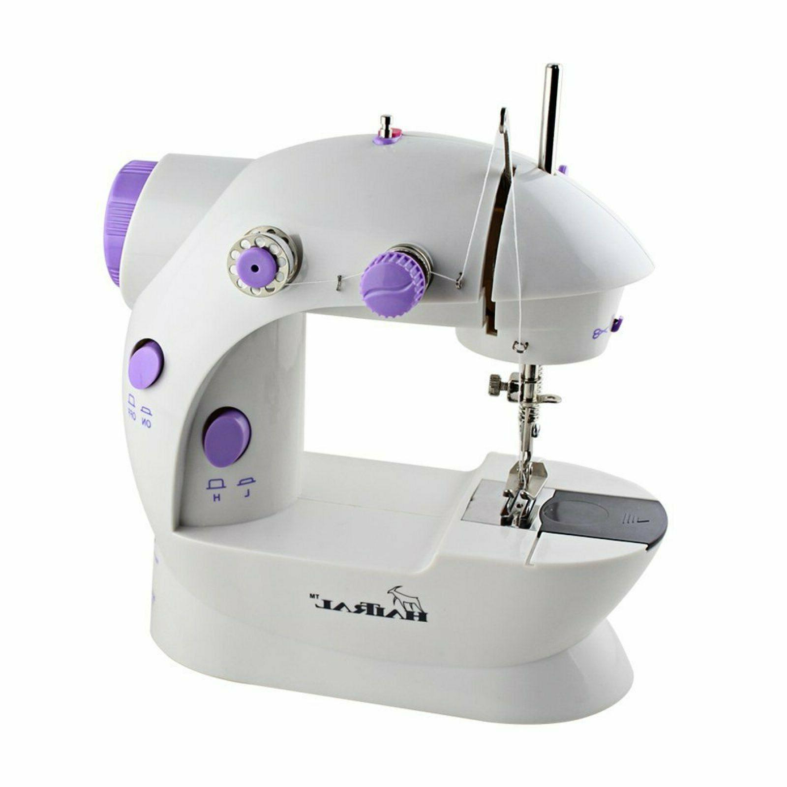 portable sewing machine adjustable double