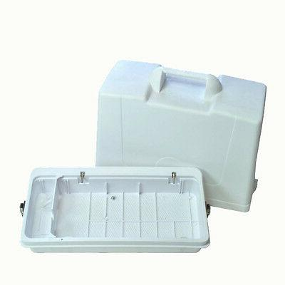 Portable Sewing Machine Carrying Case, Flat Bed, Movable Div