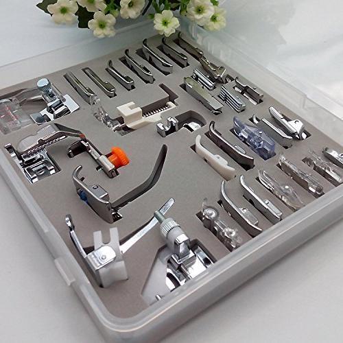 HONEYSEW 32/42/52 Presser Kit Adapter Zipper Overcast Snap On