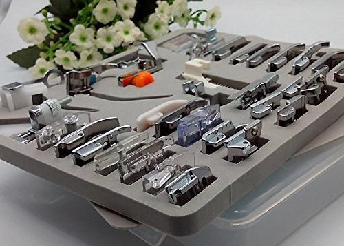 HONEYSEW 32/42/52 Presser Foot Kit Shank Zipper Foot Snap