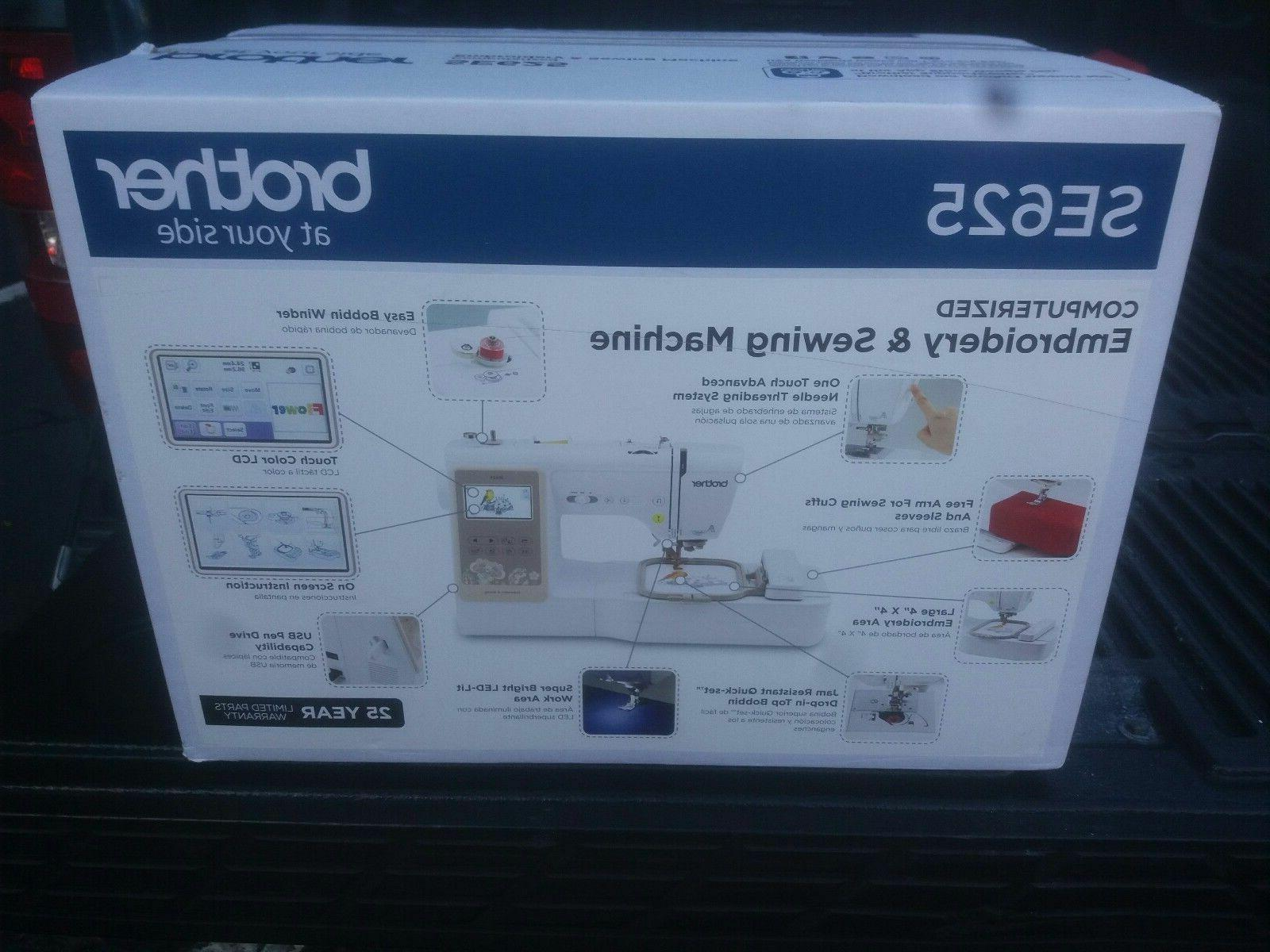 se625 computerized sewing and embroidery machine new
