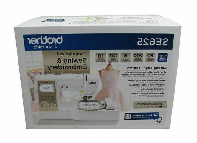 se625 computerized sewing and embroidery machine fast