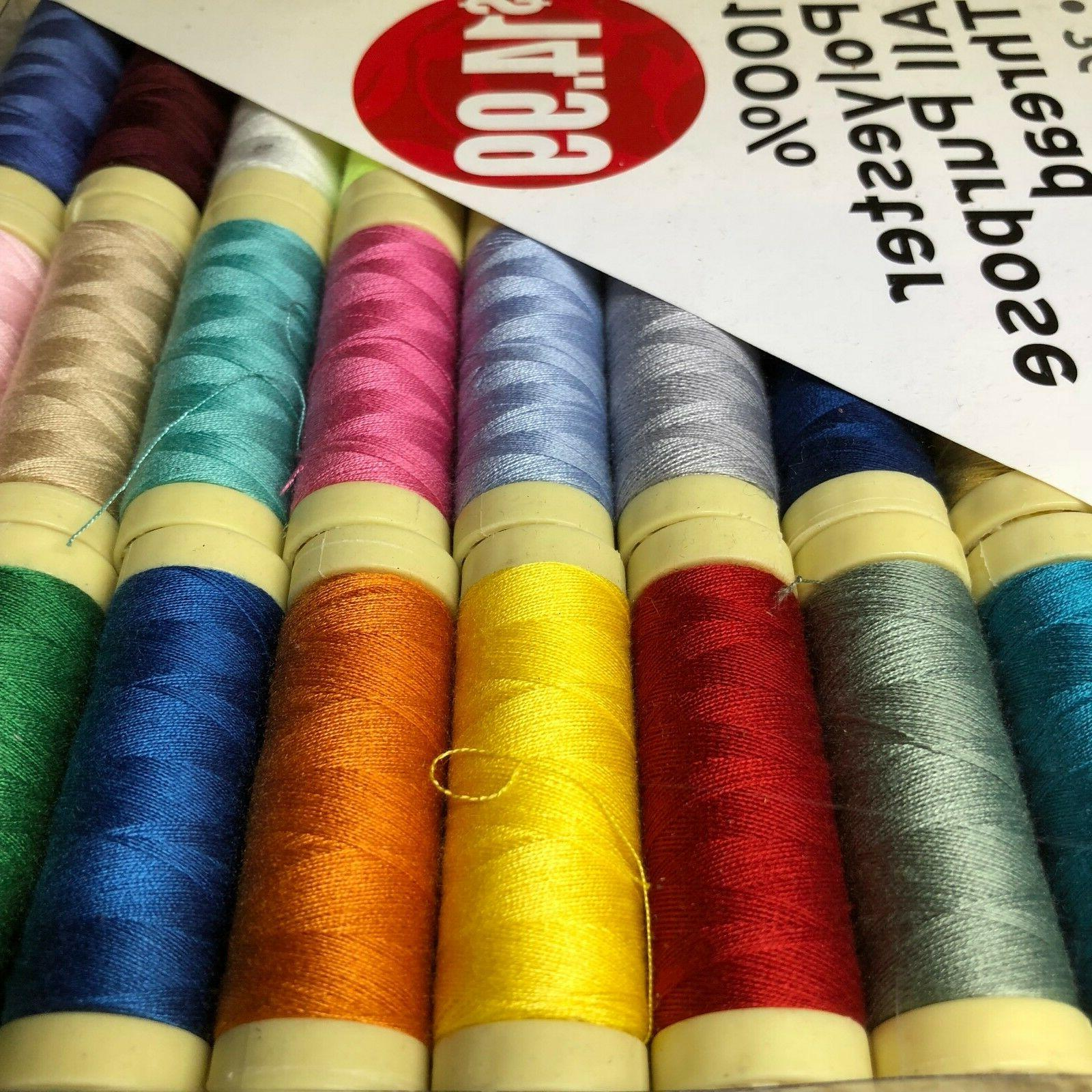 SET Spools Polyester All-purpose 34 Colors UPC404026027001