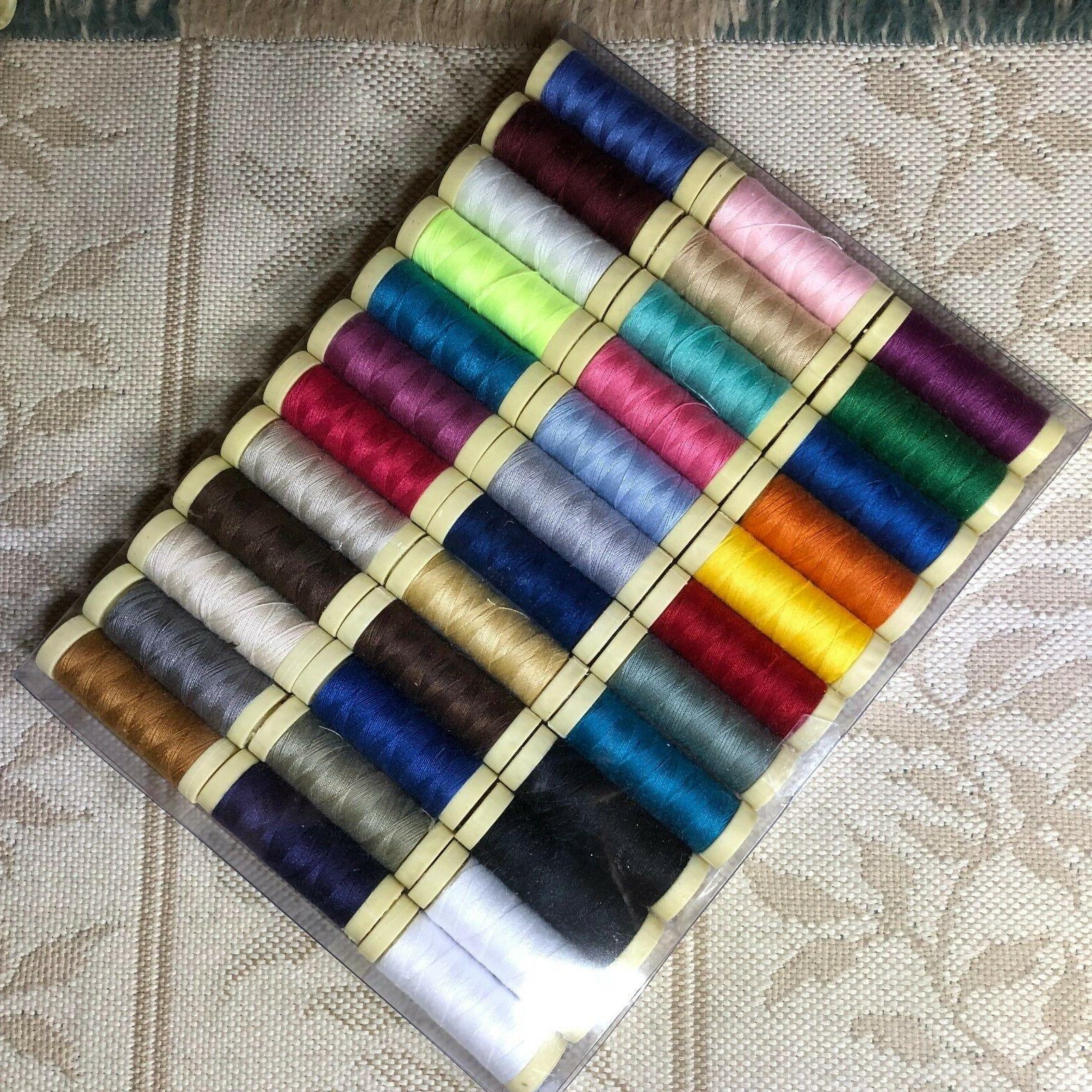 set of 36 spools polyester all purpose