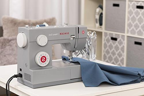 Singer Duty Sewing Built-In Threader, Metal Frame and Stainless Steel Bedplate, Perfect for Sewing All of