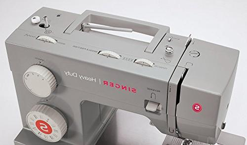 Singer Heavy Duty Sewing with 32 Built-In Threader, Metal for of Fabrics with