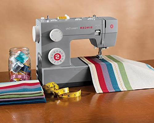 Singer Sewing 32 Built-In Stitches, Needle Stainless Steel Bedplate, for Types of Fabrics