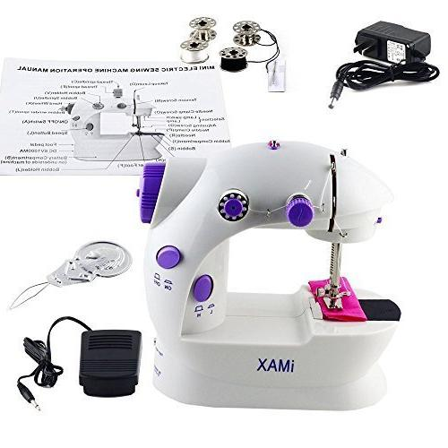 HAITRAL Sewing 2-Speed Speed, Sewing Machine With Light and /Purple