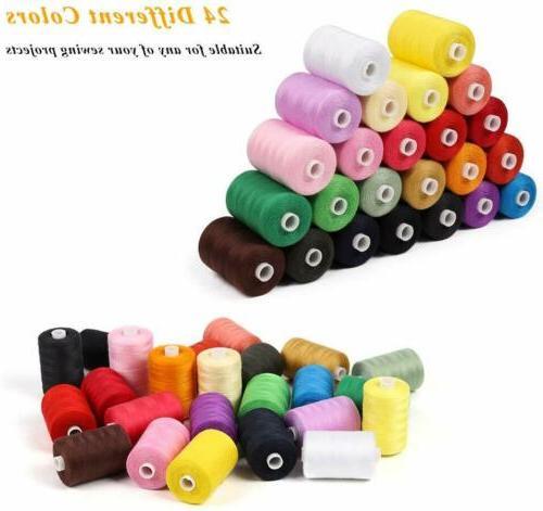 HAITRAL Thread 24 Colors Cotton Thread