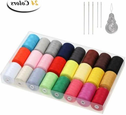 HAITRAL Sewing Thread 24 1000 Cotton Thread Sets Thread