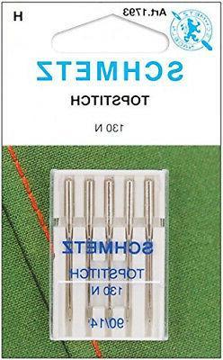 Topstitch Machine Needle-Size 14/90 5/Pkg