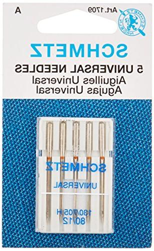 Universal Machine Needles-Size 12/80 5/Pkg