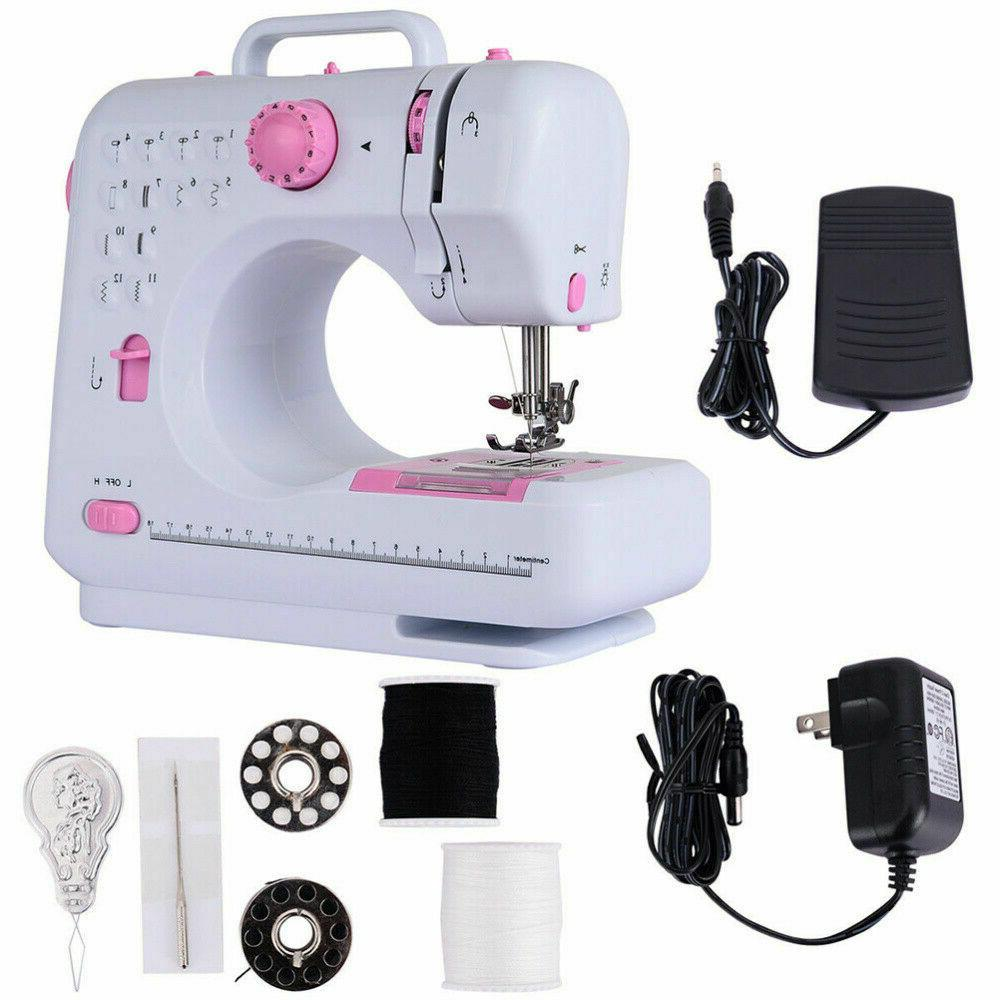 Portable Electric Sewing Machine Double Speed 12 Stitches Ho