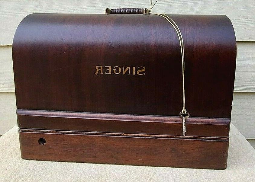 vintage sewing machine bentwood case 3 4