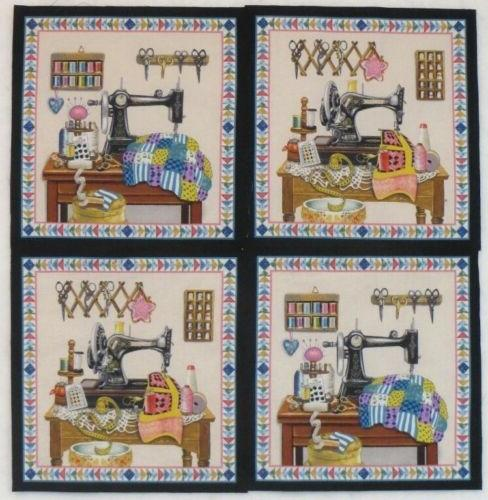 vintage sewing machine fabric panels stitch in