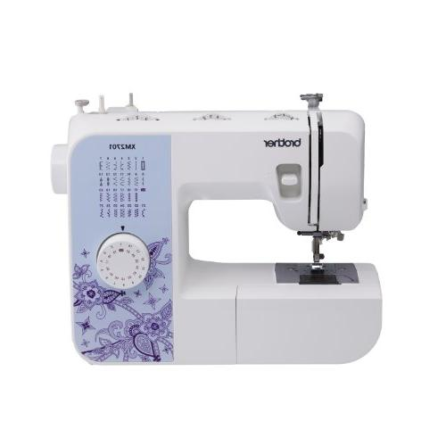 Brother Sewing Lightweight 27 Buttonholer, Feet, Free DVD