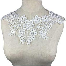 Lace Collar Sewing Fabric Beautiful Embroidered Venise Lace