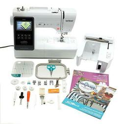 Brother LB7000 Sewing and Embroidery Machine Bundle with Des