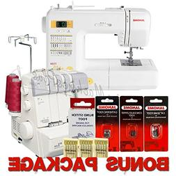 Janome Magnolia 7330 and MyLock 634D Overlock Serger Combo &