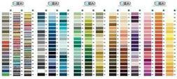 AURIFIL Mako Cotton Thread Color Card - 270 Colors