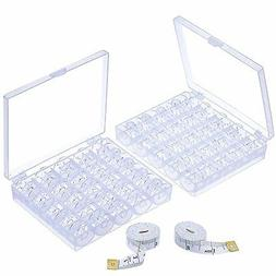 2pc Measuring Tapes 50 Pieces Plastic Sewing Machine Bobbins