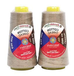 Mandala Crafts Mercerized 50 wt 100 Percent Natural Cotton Q
