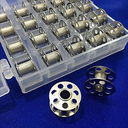 YEQIN 25PCS Metal BOBBINS with Clear Box # 0115367000-B Alt#