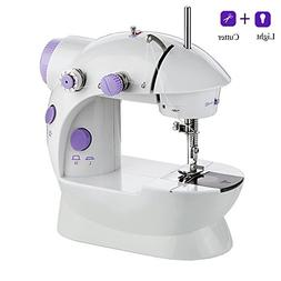 Alisaouse Mini Electric Sewing Machine with Light & Cutter D