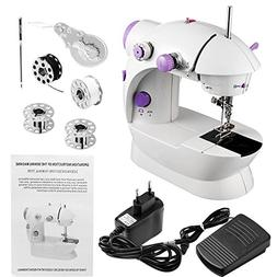 Mini Portable Sewing Machine Dual Speed Double Thread Needle