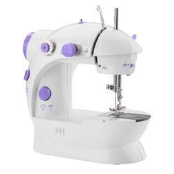 Mini Sewing Machine Sew 2 Speed Portable Desktop Foot Pedal