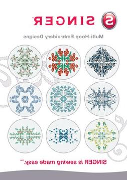 SINGER Multi-Hoop Embroidery Designs CD for Futura with 10 D