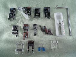 New 14pc Snap-On Presser Foot Set for VIKING HUSQVARNA Sewin
