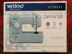 NEW Brother LX3817A 17-Stitch Full-size Sewing Machine Aqua