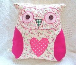 Owl Cushion Kit Patchwork Sewing Craft Kit Great Hand or Sew