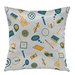 oFloral Pillow Covers Cases Business Pattern Pillowcase Deco