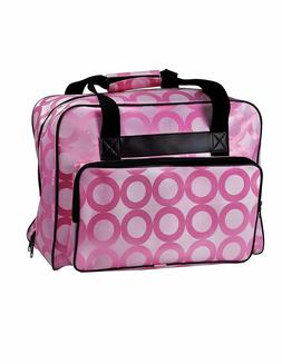 Pink Print Universal Sewing Machine Tote Bag Carrying Case |