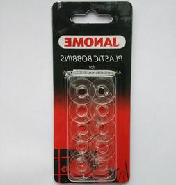 JANOME Plastic Bobbins x10 in Packet for All Janome Home Use