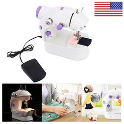Portable Mini Desktop Sewing Machine Double Speed Automatic