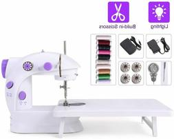 Portable Mini Household Sewing Machine with Extension Table