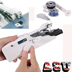 Portable Stitch Sew Hand Held Quick Sewing Machine Travel Ha
